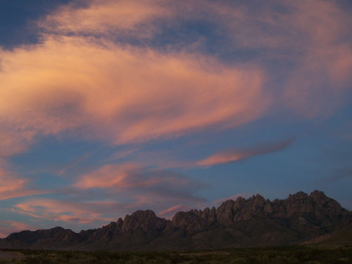 A Beautiful Sunrise over the Organ Mountains in Las Cruces, New Mexico