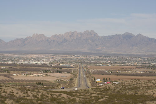 Las Cruces, New Mexico, as seen from Interstate 25