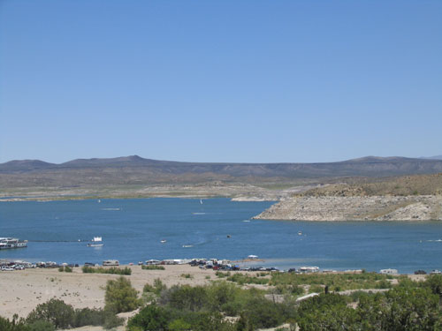 A Beautiful Day at Elephant Butte Lake near Las Cruces, New Mexico