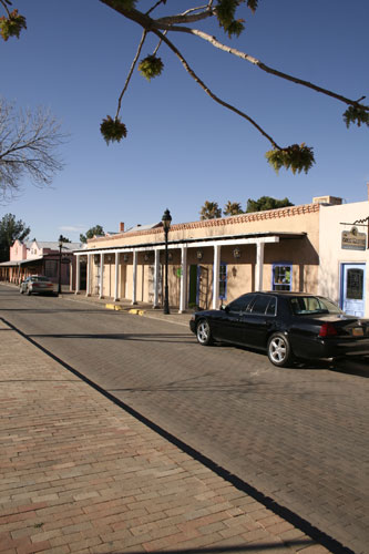 Businesses Lining the Plaza of Mesilla, New Mexico