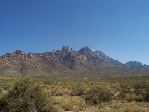 The Organ Mountains in Las Cruces, New Mexico and Surrounding Desert